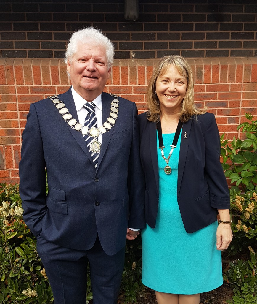 Mayor Cllr Leo McCormack and Consort Dr Sandra McCormack
