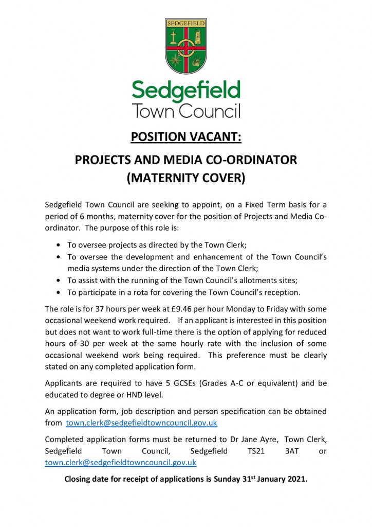 Projects and Media Co-ordinator Advert-page-001
